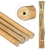 25 varas de bambú ø8-12mm 120 cm, color Natural