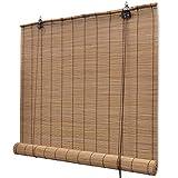 vidaXL Persiana/Estor Enrollable marrón de bambú 150 x 220 cm