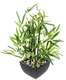 Planta de bambú artificial en maceta de 45 cm