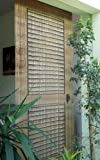 Cortina de bambú con diseño de puerta de porche (115 x 220 cm)