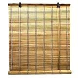 Cortina enrollable de bambú para interiores, 6 modelos y 14 tamaños para elegir